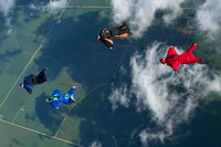 4 Way Wingsuit Sequential, POP's and Independence Boogie